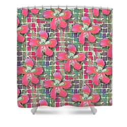 Hibiscus Pink Water Shower Curtain