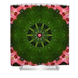 Hibiscus Reflection Design Shower Curtain by Oksana Semenchenko