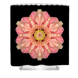 Hibiscus Rosa-sinensis I Flower Mandala Shower Curtain