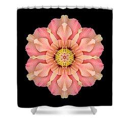 Hibiscus Rosa-sinensis I Flower Mandala Shower Curtain by David J Bookbinder
