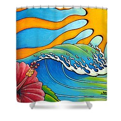 Hibiscus Wave Shower Curtain