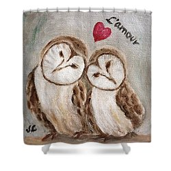 Hiboux Dans L'amour Shower Curtain