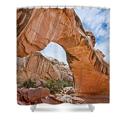 Shower Curtain featuring the photograph Hickman Bridge Natural Arch by Jeff Goulden