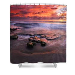 Hidden By The Tides Shower Curtain by Mike  Dawson