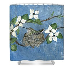 Shower Curtain featuring the painting Hidden Jewel by Ella Kaye Dickey
