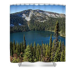 Hidden Lake In Idaho Shower Curtain