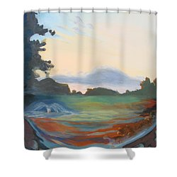 Hidden Landscape Shower Curtain