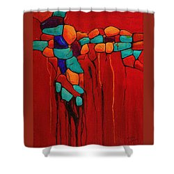 Hidden Nuggets Shower Curtain by Nancy Jolley