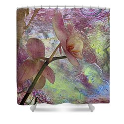 Hidden Orchid Shower Curtain by Donna Walsh