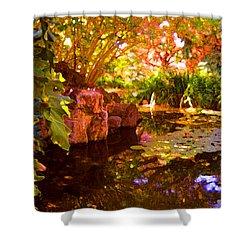Hidden Pond Shower Curtain by Amy Vangsgard