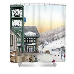 Hidden Valley Ski Resort Shower Curtain by Albert Puskaric