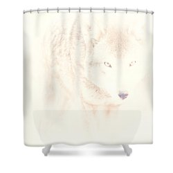 Hiding Behind Those Eyes Shower Curtain by Karol Livote