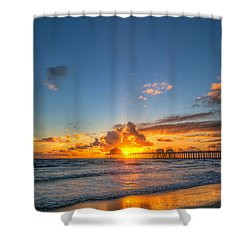 Hiding Sunset Shower Curtain