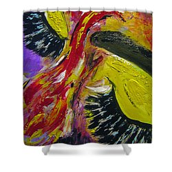 Shower Curtain featuring the painting Hier Au Cirque by Lucy Matta