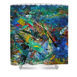 Higgs Field Activity -or- Paint Shower Curtain by Scott Haley