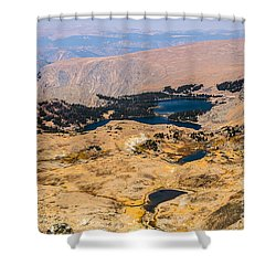 High Altitude Lakes Shower Curtain by Sue Smith