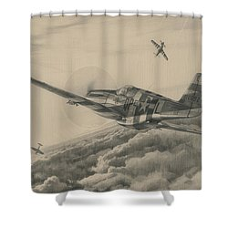 High-angle Snapshot Shower Curtain by Wade Meyers