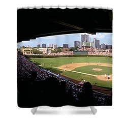 High Angle View Of A Baseball Stadium Shower Curtain by Panoramic Images