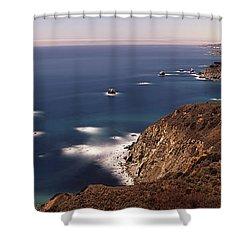 High Angle View Of A Coastline, Big Shower Curtain