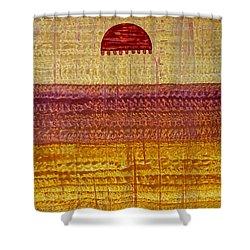 High Desert Horizon Original Painting Shower Curtain by Sol Luckman