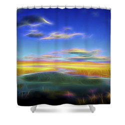 High Desert Lake Shower Curtain