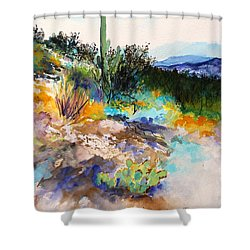 High Desert Scene 2 Shower Curtain by M Diane Bonaparte