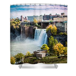 High Falls Rochester Shower Curtain by Sara Frank
