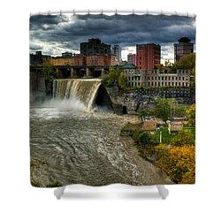 High Falls Shower Curtain by Tim Buisman