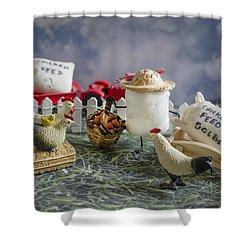 High Fructose Farming Shower Curtain by Heather Applegate