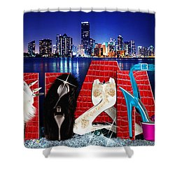 High Heels Miami Shower Curtain