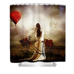 High Hopes Shower Curtain by Shanina Conway