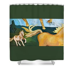 High Horse Shower Curtain