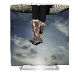 High Over The World Shower Curtain by Joana Kruse