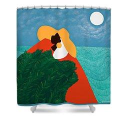 High Priestess Haiti Shower Curtain