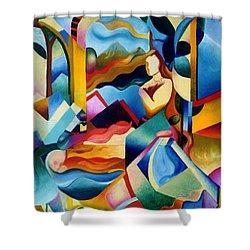 High Sierra Shower Curtain by Sally Trace