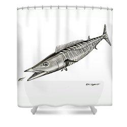 High Speed Wahoo Shower Curtain