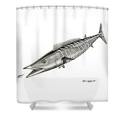 High Speed Wahoo Shower Curtain