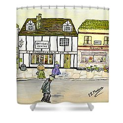 Shower Curtain featuring the painting High Street by Loredana Messina