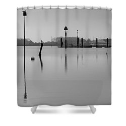 High Tide Ripples Shower Curtain