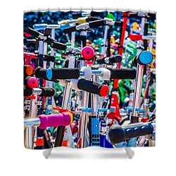 High Time To Buy A Scooter 1 Horizontal Shower Curtain by Alexander Senin
