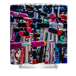 High Time To Buy A Scooter 1 Vertical Shower Curtain by Alexander Senin