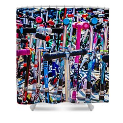 High Time To Buy A Scooter 3 Horizontal Shower Curtain by Alexander Senin