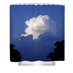 High Towering Clouds Shower Curtain by Verana Stark