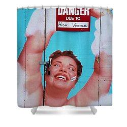 High Voltage Shower Curtain by Allen Beatty