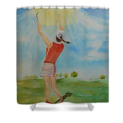 Highest Calling Is God Next Golf Shower Curtain
