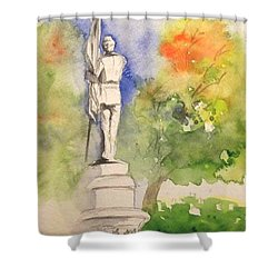 Highland Cemetery-plein Air-ypsilanti Michigan 1 Shower Curtain