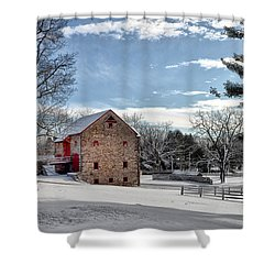 Highland Farms In The Snow Shower Curtain by Bill Cannon