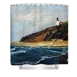 Shower Curtain featuring the painting Highland Light by Michael Helfen