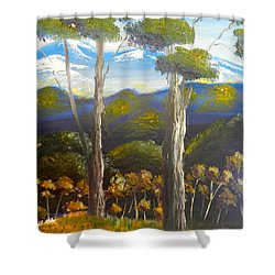 Highlands Gum Trees Shower Curtain by Pamela  Meredith