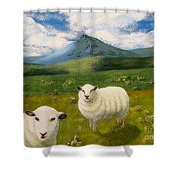 Highlands Sheep Shower Curtain
